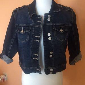 Vanity Cropped Denim Jacket